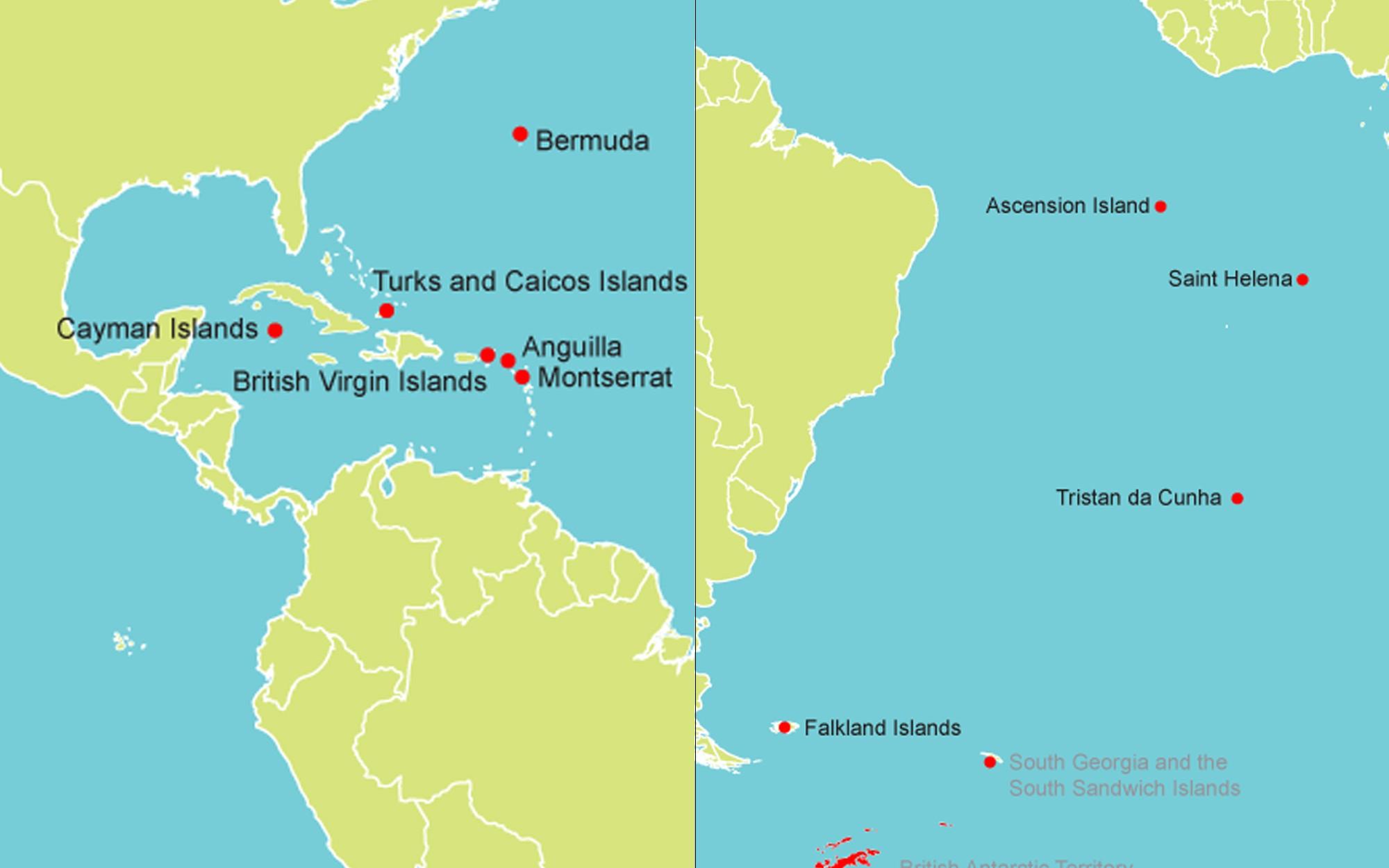 Map Of Uk Overseas Territories.Tackling Hiv Aids In The Uk Overseas Territories Caribbean And The