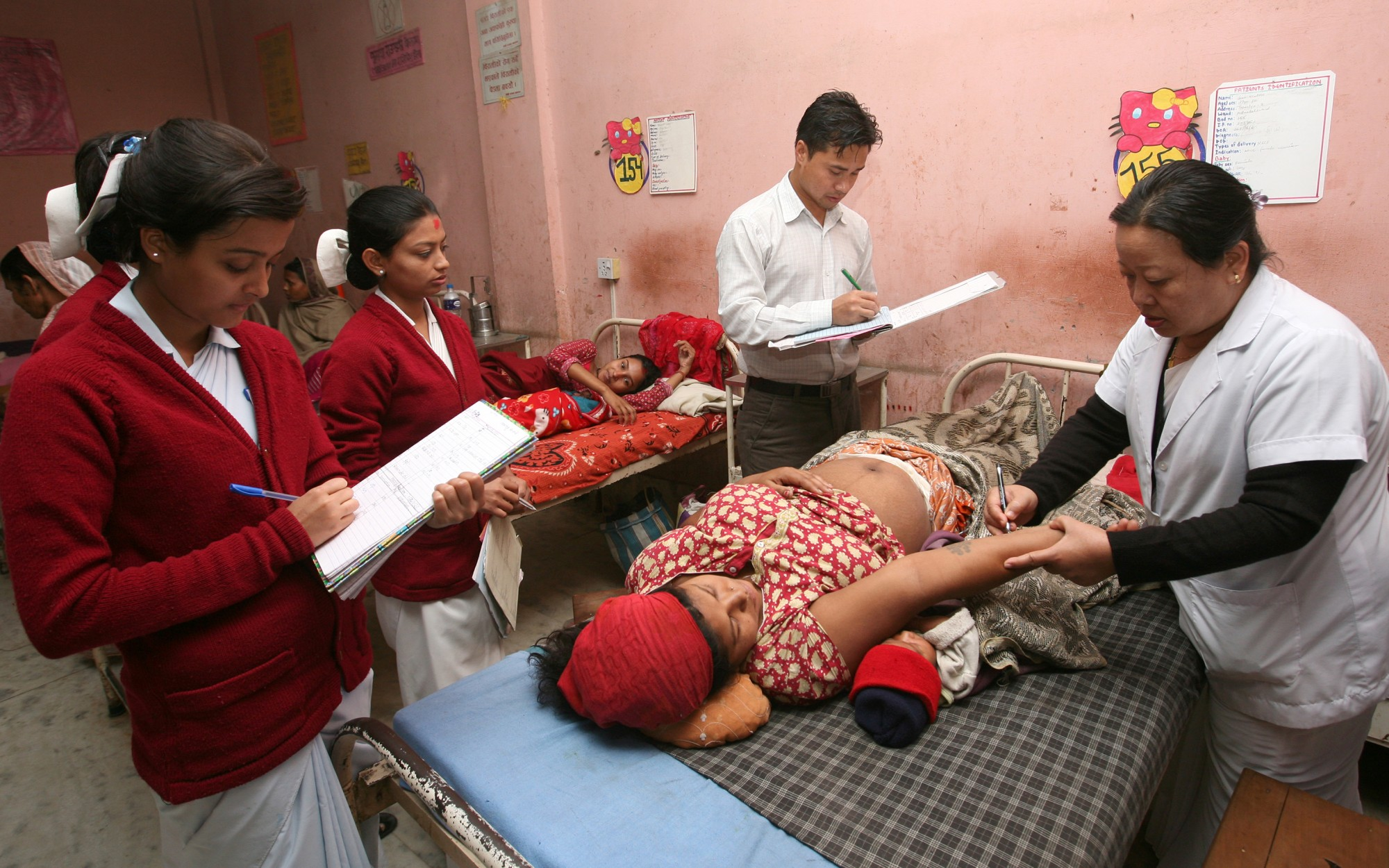 Hospital staff take regular rounds at the hospital