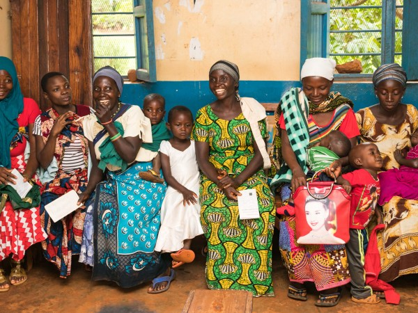 Women wait for consultation at a health center in Buhigwe, Tanzania.