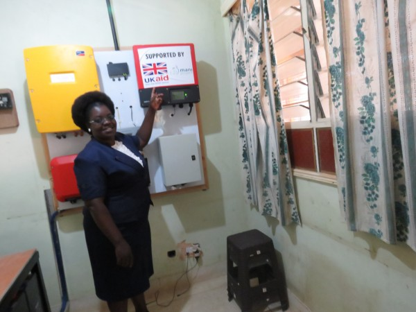 Solar power back up system providing vital electricity in a maternity unit, Kenya