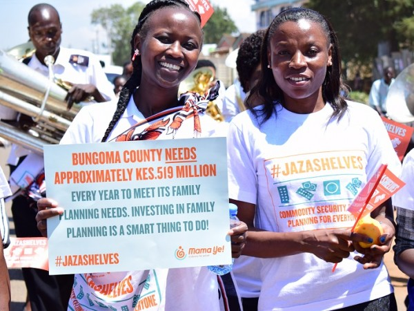 #JazaShelves campaign launch in Bungoma, 2018