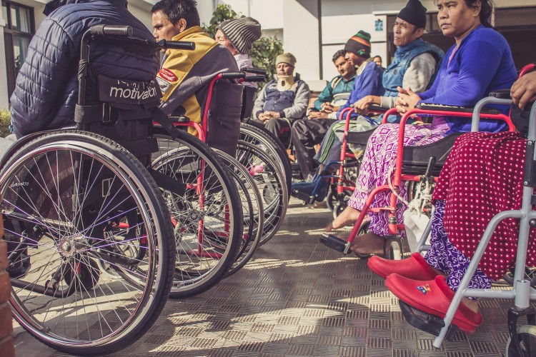 Wheelchair users at SIRC