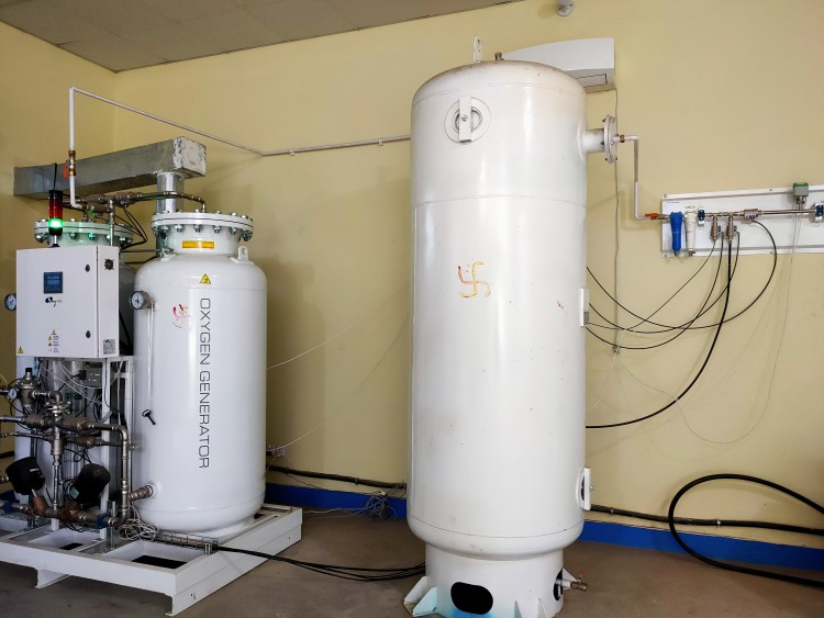 Liquid Oxygen storage tank at Teku Hospital, Kathmandu