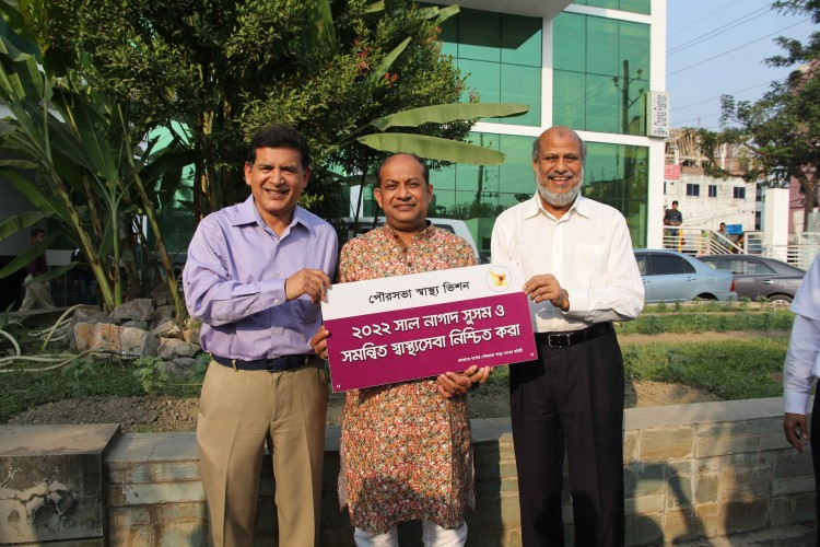 Mayor of Jessore with City Health Vision, Bangladesh