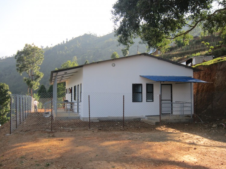 Prefab building in Dolalghat Health Post, Sindhupalchowk, Nepal
