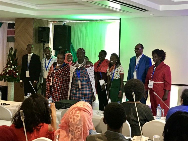 Participants at the End FGM Youth Summit, Kenya