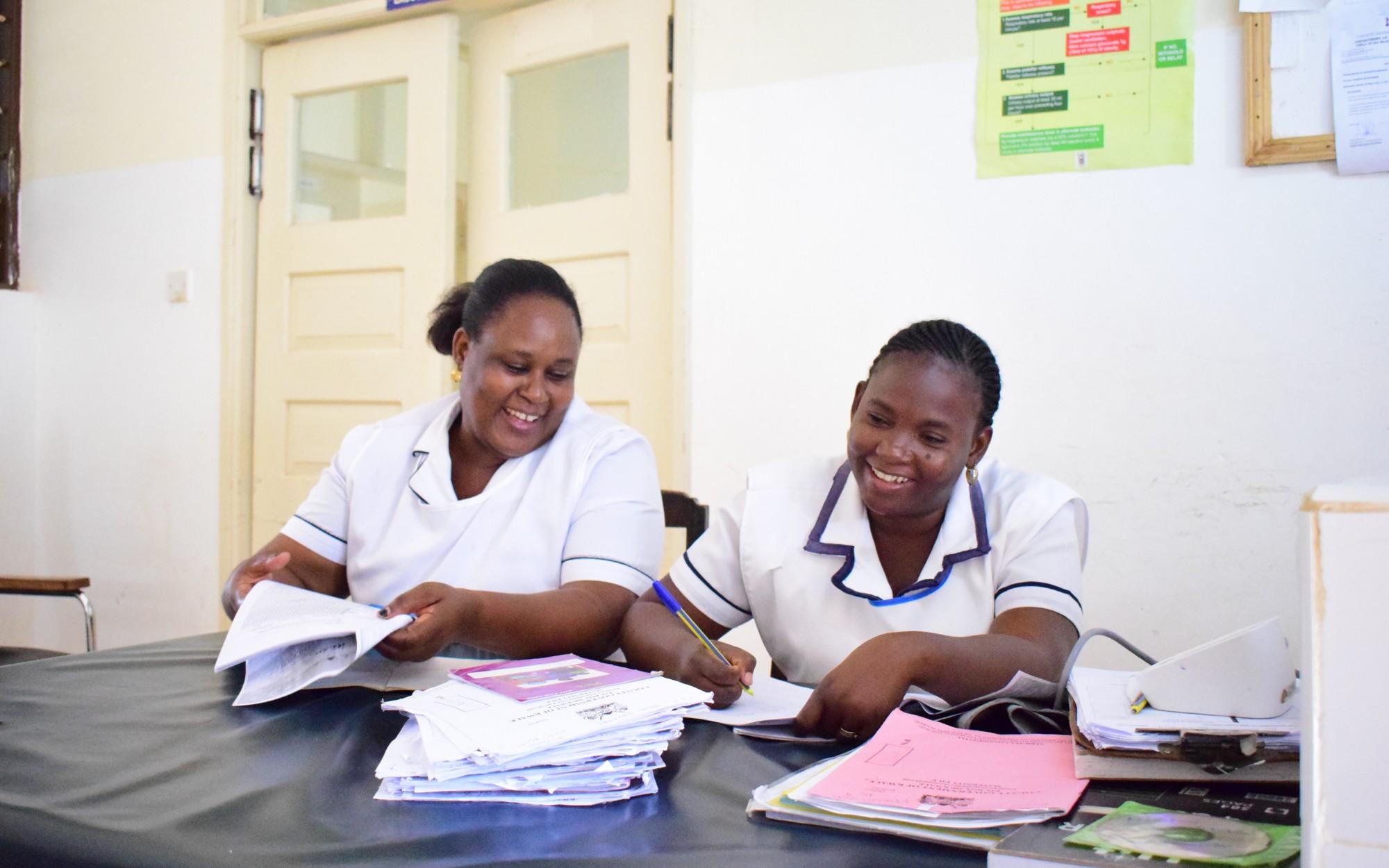 Nurses at Kwale County Hopsital, Maternity Unit, Kenya