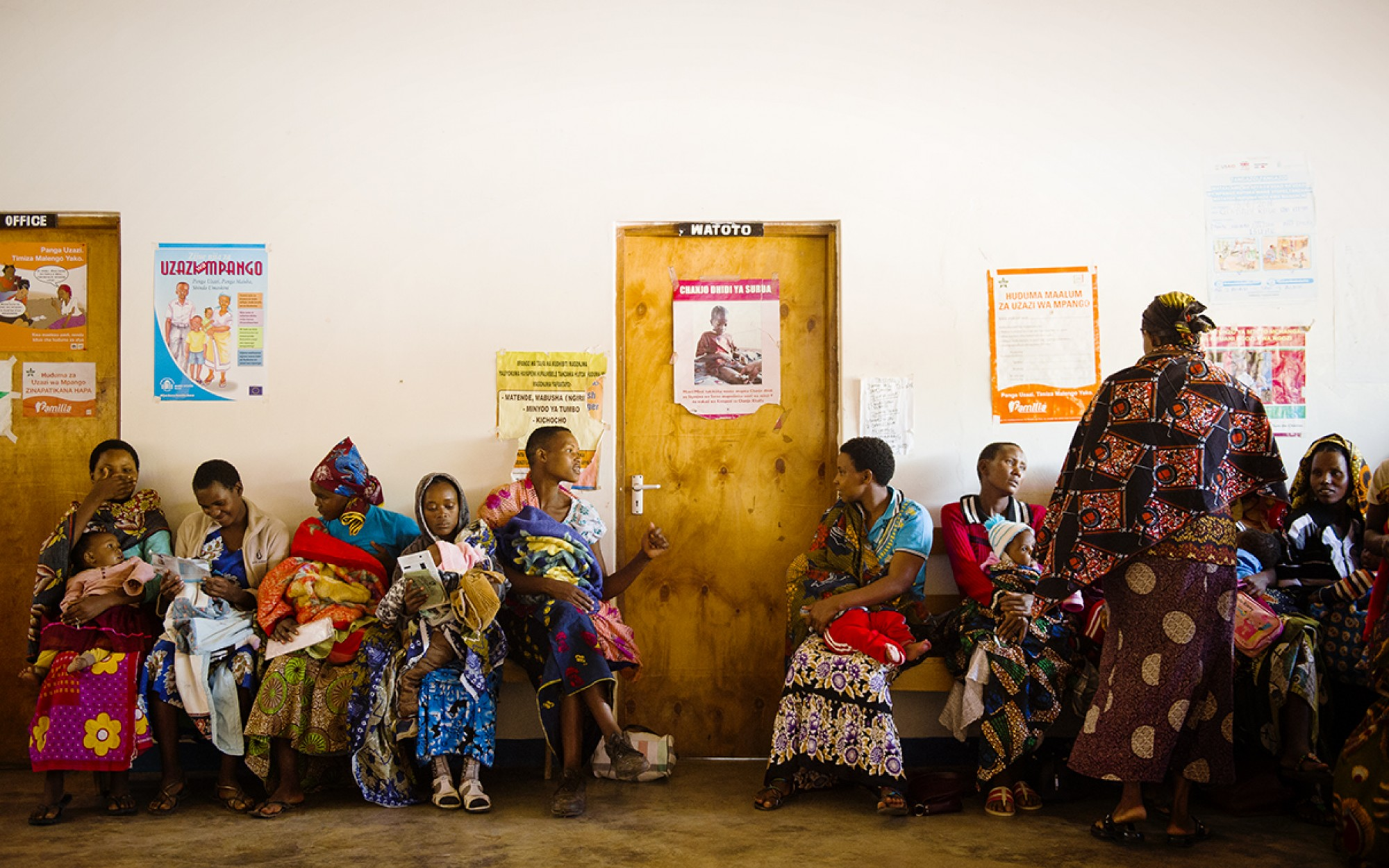Women at a health centre, Tanzania