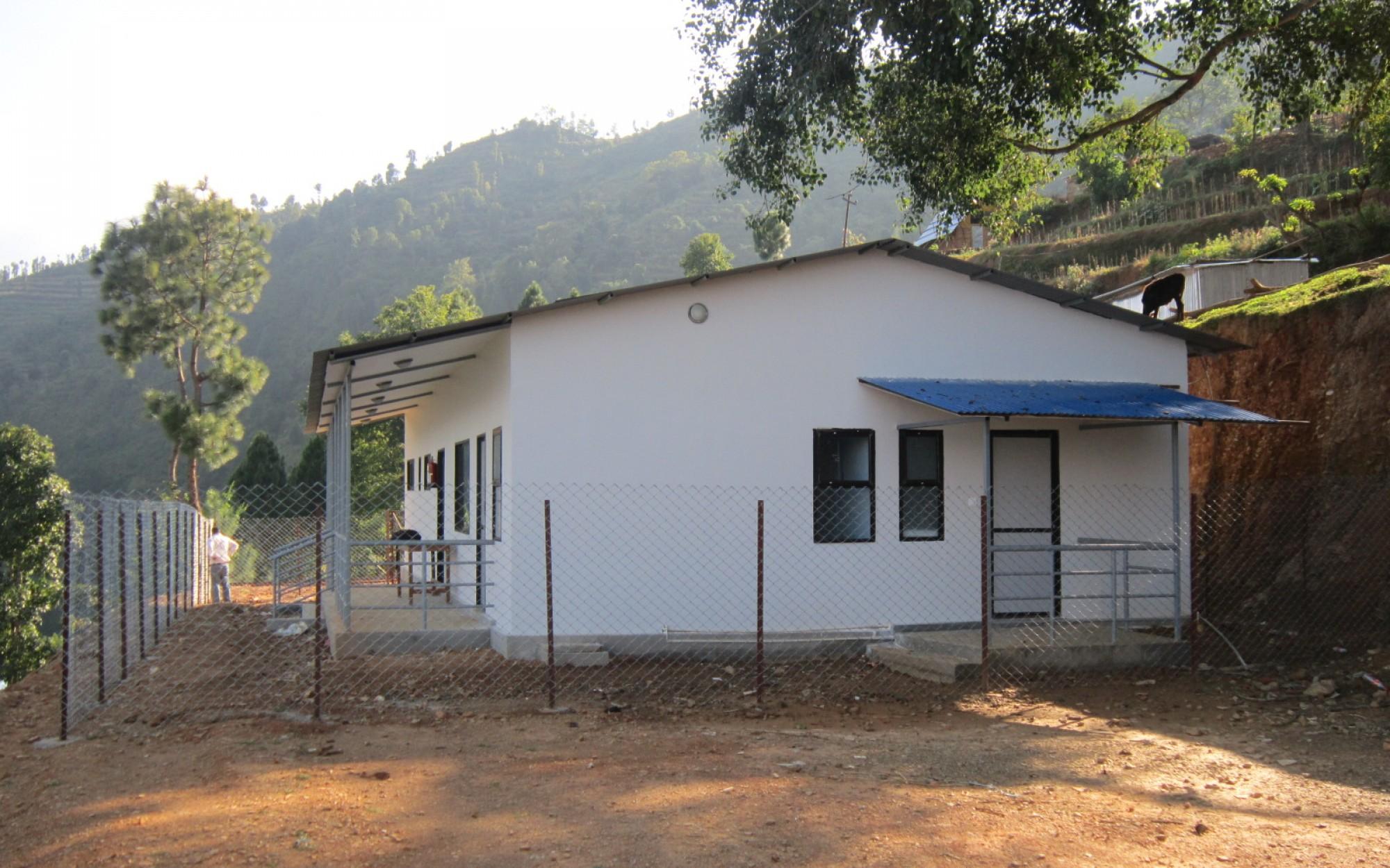 Prefab building in Dolalghat Health Post, Sindhupalchowk, Nepal