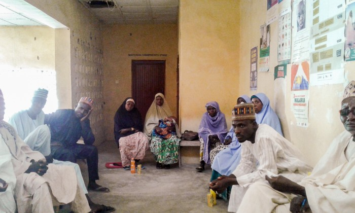 FHC members reviewing health facility progress in Yobe