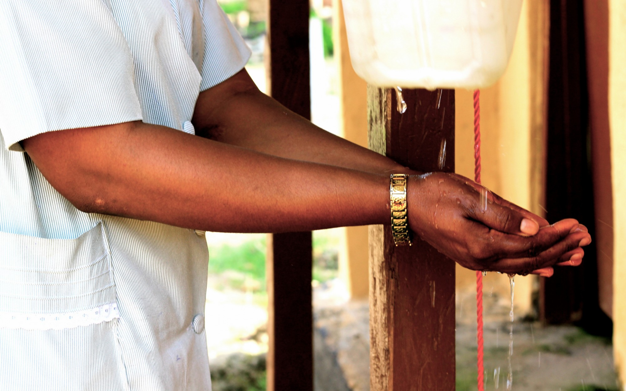 Innovation in hand-washing, Sierra Leone